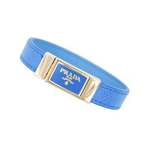 Prada Jewelry - Prada Saffiano Signature Logo Cuff Bracelet